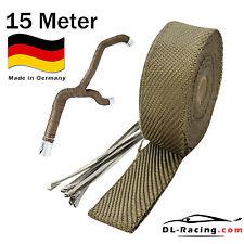 15 m Titan Hitzeschutz band 50 mm breit Auspuff Band 1450° Heat Wrap Krümmer