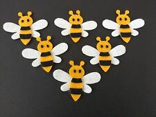 6 Bee die cuts, craft embellishments, Card toppers, buntings, box frames.