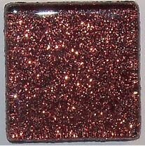Glitter Glass Mosaic Tiles - Cocoa Brown - 1 inch - 15 Tiles - Craft & Art Tiles