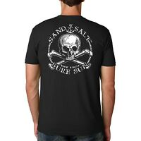 Sand.Salt.Surf.Sun. Skull Cotton Crew Short Sleeve Shirt