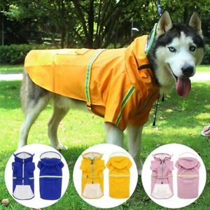 S-5XL Pets Dog Raincoats Reflective Small Large Dogs Waterproof Jacket Clothes