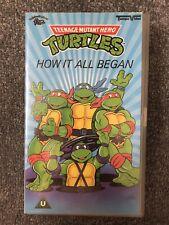 TEENAGE MUTANT HERO TURTLES - HOW IT ALL BEGAN 1990  -  VHS VIDEO - PAL