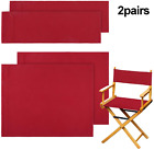2 Set Casual Directors Chair Cover Kit  Canvas Seat and Back Cotton