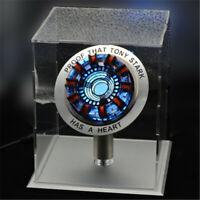 Iron Man Arc Reactor MK2 Tony Stark Heart Display Box Standfuß Glas Fall USB DIY