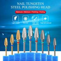 Nagel Bohrer Wolfram Stahlkopf Elektrisches Schleifen Nail Art Polishing Tool