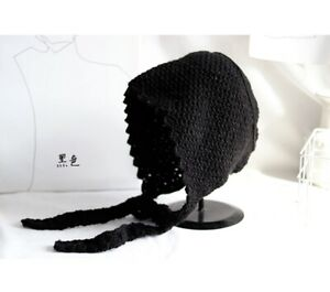 Women Vintage French Style Knitted Hat Winter Cap Casual Hat 6 Colors