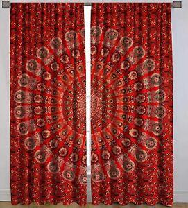 Hippie Indian Mandala Door Window Curtain Tapestry Boho Twin Handmade Home Decor