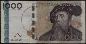 SWEDEN  1000 Kronor Banknote ..FV $120++