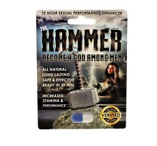 The Hammer Men's Powerful Sexual Health Performance Libido Enhancing Supplement