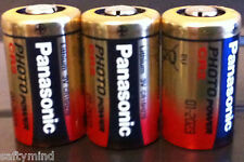 "Brand New ""3"" Panasonic Cr2 3 Volts Single Use Battery for Camera, Meter,"