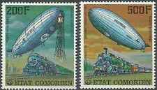 Timbres Dirigeables Trains Comores PA121/2 ** lot 16894
