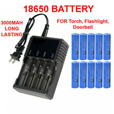 18650 Battery Li-ion 3.7V Rechargeable Batteries For LED Flashlight Head Torch