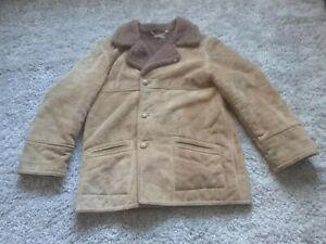 Mens sheepskin coat. Brown. Large. Made in England.