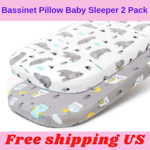 Bassinet Pillow Baby Sleeper 2 Pack Mattress Snug Unisex Soft Breathable Bed