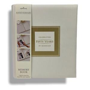 Hallmark 50th Wedding Anniversary Memory Book Album Scrapbook Photo Safe Paper