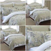 Printed Amaryllis Duvet Cover Set 100% Egyptian Cotton 250 Thread Count Bedding