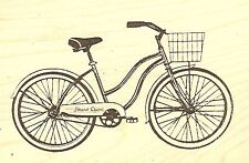 Strand Cruser Bicycle, Wood Mounted Rubber Stamp JUDIKINS - NEW, 3655G