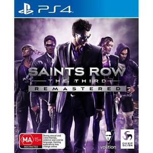 Saints Row the Third Remastered PS4 PlayStation 4 New Sealed AU
