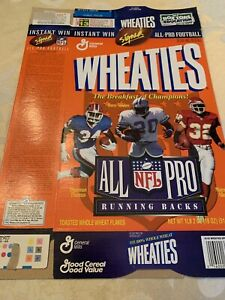 1996 Wheaties NFL All-Pro Running Backs & QB's  Marino Smith Allen Aikman 2 Box
