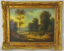 Very Fine ENGLISH Mid-19th C. Oil Painting of a Stag Hunt  c. 1860s  antique