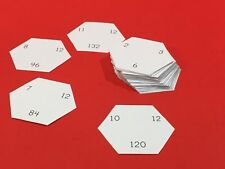 Math Hexagons - Flash Cards - Multiplication facts