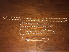 Mixed- Lot of 4 Vintage Beaded/Faux Pearls Necklaces-