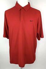 Nike Performance Vtg Mens Xl Athletic Golf Polo Shirt Short Sleeve Red