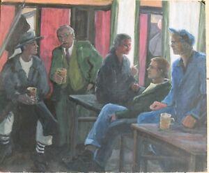 Drinkers in the bar - Dublin school - James Joyce - William Connor