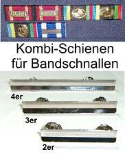 Kombi-Schienen / Unterteile für Bandschnallen / Ordenspangen