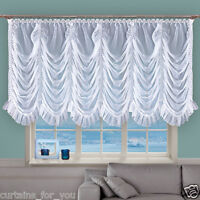 CRINKLED NET CURTAINS WITH FLOUNCE ! WHITE ECRU VOILE FOR YOU AMAZING  WINDOW