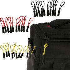 30Pcs Zip Slider Hanger Replacement Zipper Pull Cord Fastener Puller 3 Color