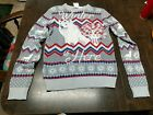 NWT Game Of Thrones Gray White Wolf Ugly Christmas Sweater Women's L