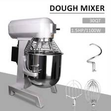 More details for 30l commercial food dough mixer planetary stand bread cake beater whip 1100w