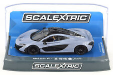 Scalextric Ceramic Grey McLaren P1 DPR W/ Lights 1/32 Scale Slot Car C3877