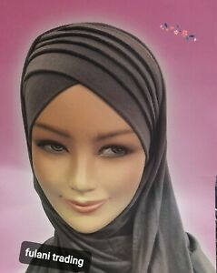 One Piece Hijab  Ready Made Pull on Scarf Jersey Instant Pin free if you wish!