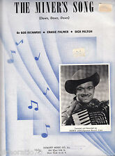 SHORTY LONG The Miner's Song SHEET MUSIC Piano Accordion