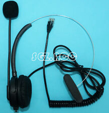 Office Telephone Headset with RJ9 Modular Connection Black US Seller