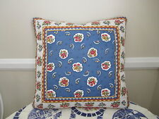 Gorgeous Accent Pillow Pierre Deux Blue Red Avignonet French Country Toile Fleur