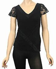 Lace V-Neck Cap Sleeve Tops & Shirts for Women