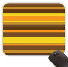 Groovy Mid Century 70's Orange Stripes Pattern Value Mouse Pad