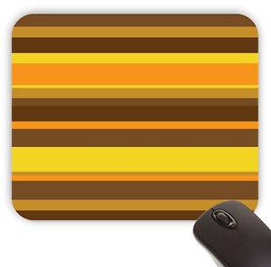 Groovy Mid Century 70's Orange Stripes Pattern Value Mouse Pad