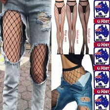 OZ Fashion Women's Mesh Net Fishnet Stockings Pantyhose Black High Waist Tights