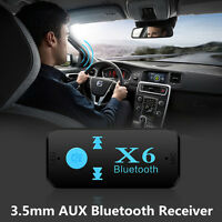 12V Wireless Bluetooth 3.5mm AUX Audio Stereo Music Car Receiver Adapter Mic USB