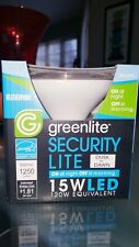 Greenlite SECURITY LIGHT Weatherproof Flood Bulb 15W LED DUSK TO DAWN