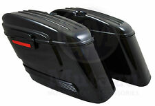 HL Black Out Hard Bag Saddlebags Royal Star VT1100 Magna Sportster Softail DYNA