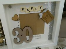 Number birthday Personalised Scrabble Art Box Picture Frame 18th 21st childrens