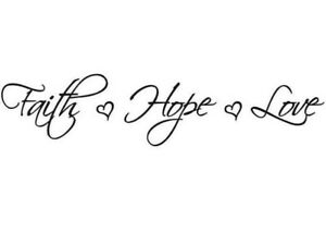 Faith Hope Love Wall Lettering Decal Stickers