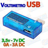Voltimetro Amperimetro USB 3,5v-7v DC 3A - Arduino Electronica DIY