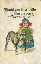 Lil Dutch Girl~Black Bulldog~Vould You Let Liddle Ting Like Dis Come Between Us?