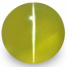 2.12-Carat Rare VS-Clarity Intense Yellowish Green Ceylon Chrysoberyl Cat's Eye